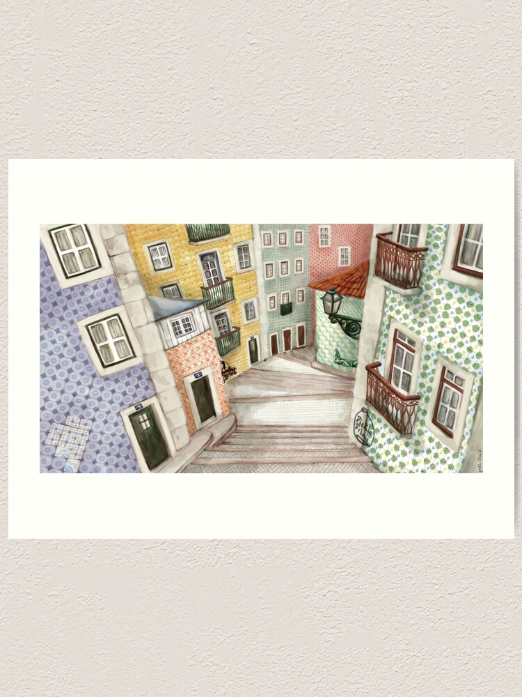 Alternate view of Lisboa Art Print