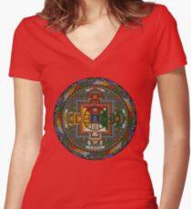 Mandala of Yamantaka Women's Fitted V-Neck T-Shirt