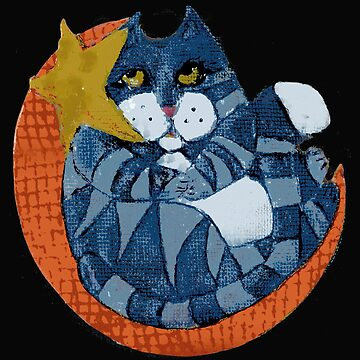Cat on the Moon by ginnyl52