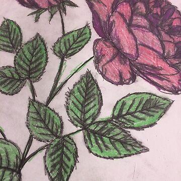 Crushed Velvet Purple Rose  by PETAbstractA