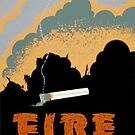 Fire Wrecks a Forest - WPA Poster by USAPropaganda