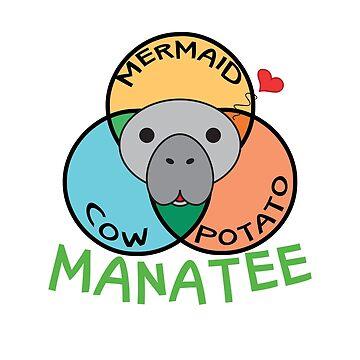 Manatee = Cow + Mermaid + Potato by Gifafun