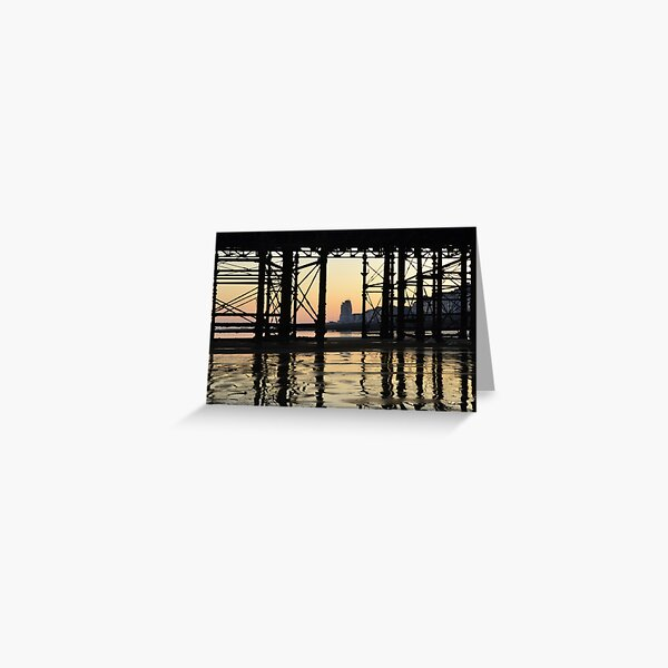 Hastings pier afterglow Greeting Card