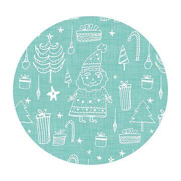 Santa Workshop Blue by susycosta