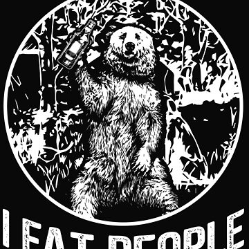 I Eat People Bear by dtino