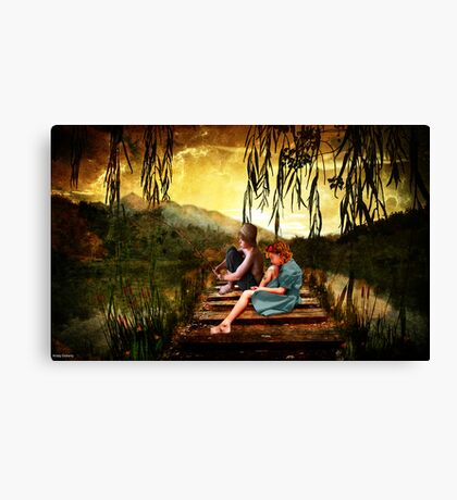 there first date Canvas Print