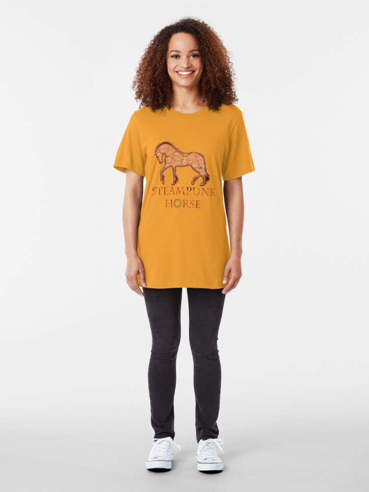 Alternate view of Steampunk horse  Slim Fit T-Shirt