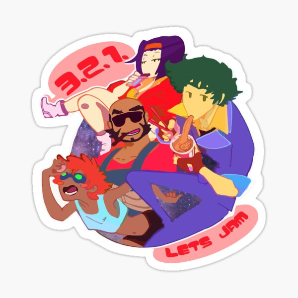3,2,1 Let's Jam Sticker