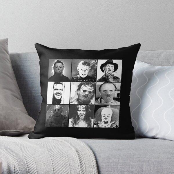 Iconic Horror Villians Throw Pillow