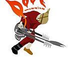 DOOF Warrior VS The World fan art by Micksergeant