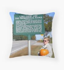 Lake Coos and the Presidential Range Throw Pillow