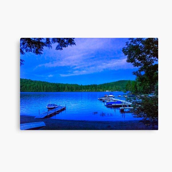 Blue Hour Brant Lake NY Canvas Print