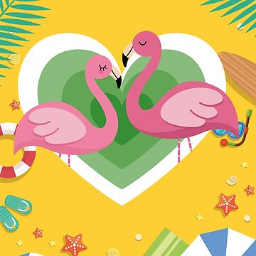 Tropical Love Flamingos by fadibones