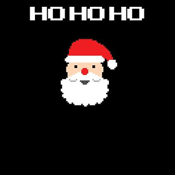 8-Bit Santa V2 by TeeTimeGuys