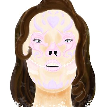 Unicorn Sugar Skull by TrotLOeilArt