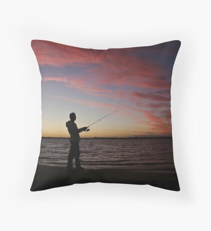 ..a nice night for fishing Throw Pillow