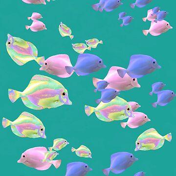 Rainbow fish by OllieandQuinn