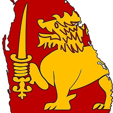 Sri Lanka Map With Flag by Havocgirl