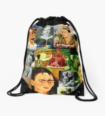 Obsessed with Frida Kahlo Drawstring Bag