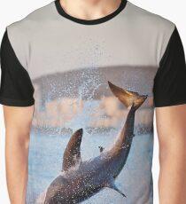 breaching great white shark Graphic T-Shirt
