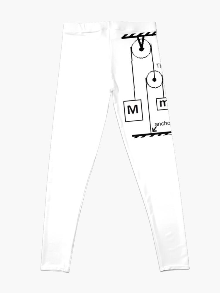 Alternate view of #Science #physics #education #scientific school symbol energy background illustration Leggings