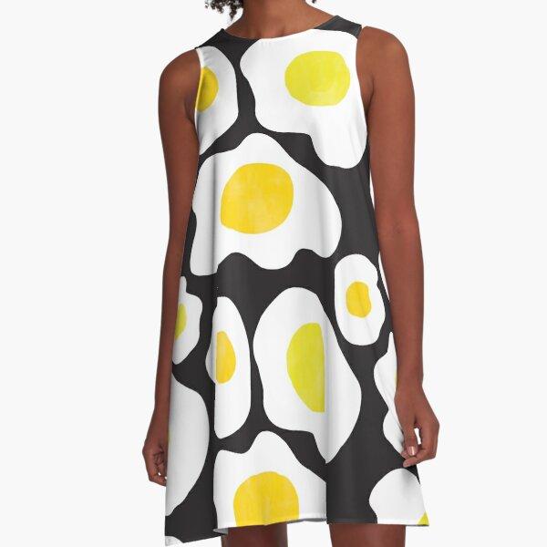 Fried Eggs world record egg A-Line Dress