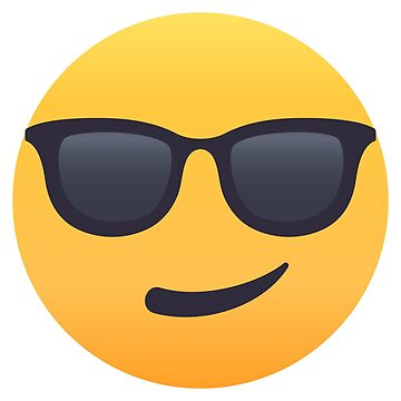 Smiling Face with Sunglasses Emoji by joypixels