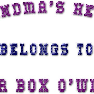 Grandma's Heart Belongs to her Box O'Wine by ThymeLeeDesigns