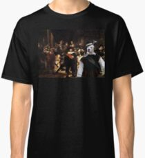 American Staffordshire Terrier Art - The Round of Night Classic T-Shirt