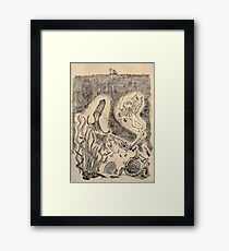 Parchment Sea Framed Print