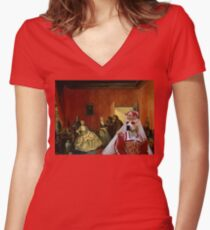 American Staffordshire Terrier Art - Jewelry seller Women's Fitted V-Neck T-Shirt