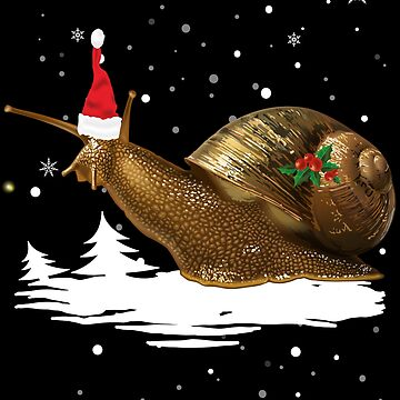 Christmas Snail - Snail Santa Hat  by edgyshop