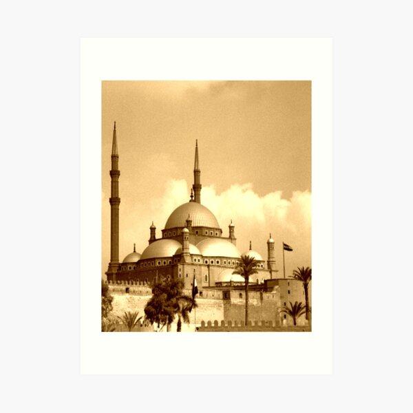 Mosque of Muhammad Ali (Sepia) Art Print