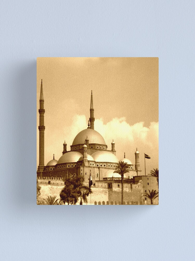 Alternate view of Mosque of Muhammad Ali (Sepia) Canvas Print