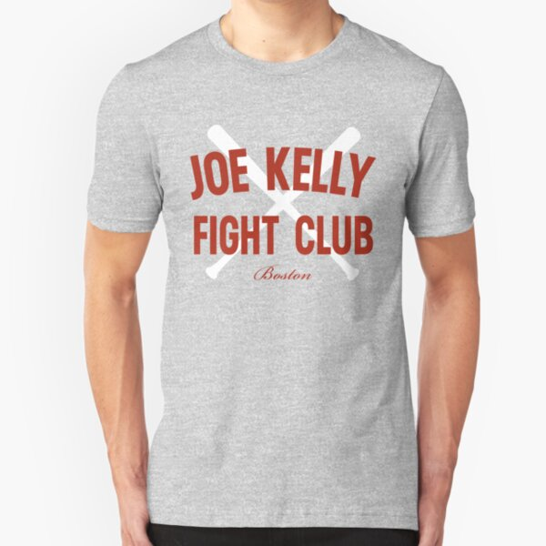 Vintage Distressed Red Tee Joe Kelly Fight Club Shirt for Boston Fans Slim Fit T-Shirt