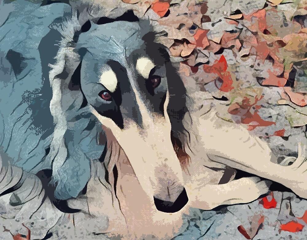 Abstract Borzoi by Happy Dog Swag