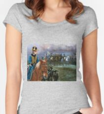American Staffordshire Terrier Art - The Campaign Napoleon and his army Women's Fitted Scoop T-Shirt