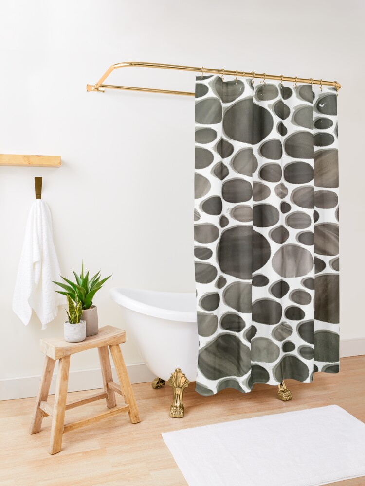 Alternate view of #Pattern #design #abstract #shape #tile #decoration #repetition #art #print #textured #textile #seamlesspattern #backgrounds #retrostyle #nopeople #square #background #abstract #vector #texture Shower Curtain