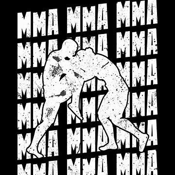 MMA Repeat Fighting Mixed Martial Arts Training White by zot717