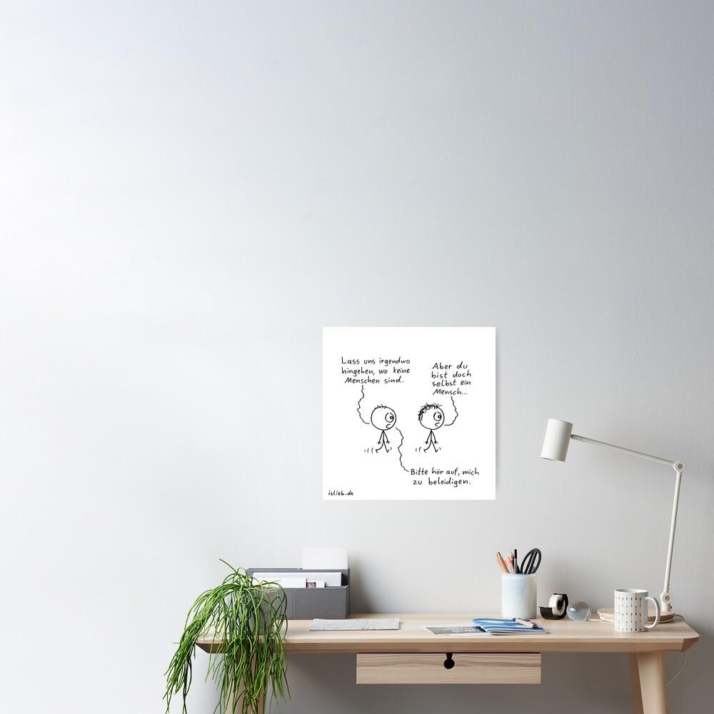 Irgendwo hingehen islieb Cartoon Poster