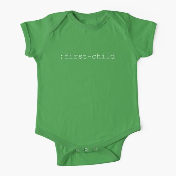 Indicate Your First-Born With A CSS Selector Short Sleeve Baby One-Piece