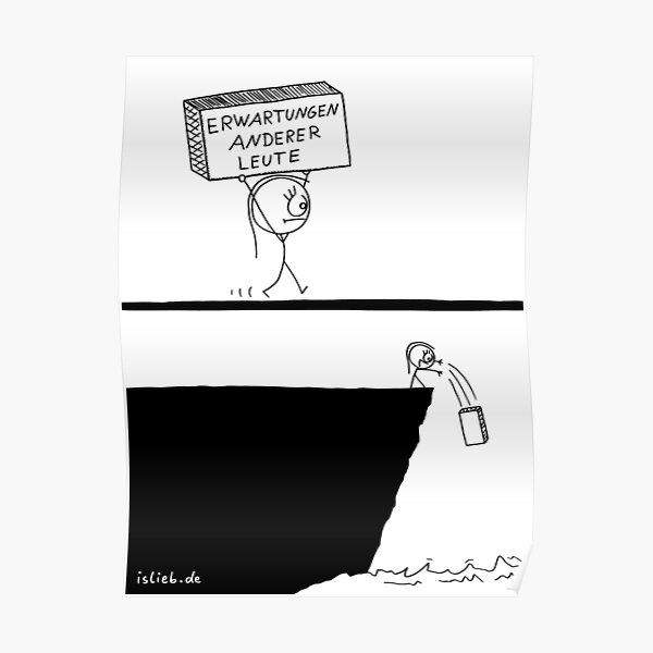 Erwartungen islieb Comic Poster
