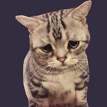 Sad Cute Cat by desexperiencia