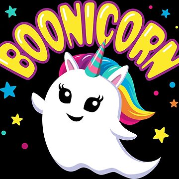 Cute Boonicorn Unicorn Ghost Halloween T Shirt by elvindantes