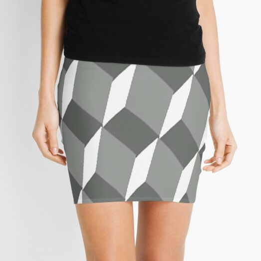#pattern #design #square #repetition #tile #mosaic #textile #abstract #illusion #geometry #illustration #simplicity #geometricshape #seamlesspattern #nopeople #textured #backgrounds Mini Skirt