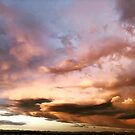 Bremerton Sunset, Tiny Rainbow, Mt. Rainier by rachro
