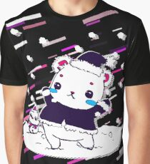 Christmas bear Eighties Retro Violet and Purple Graphic T-Shirt