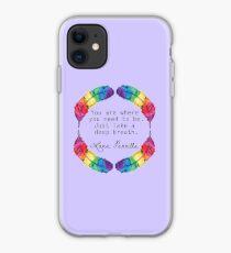 Lana Parrilla Quote (Black text) iPhone Case