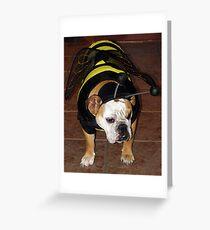 Bulldog Bumble Bee Greeting Card