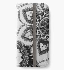 black and white mandalas iPhone Wallet/Case/Skin